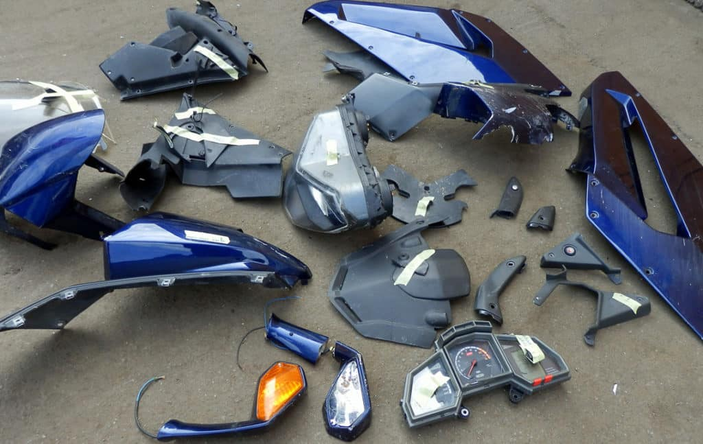 Ремонт пластика мотоцикла